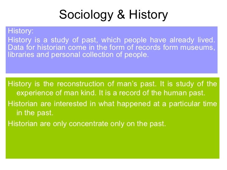 relationship between sociology history