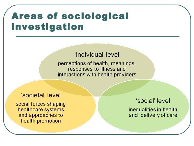 understand sociological approaches to health and Please note: we are currently in the process of updating this chapter and we appreciate your patience whilst this is being completed section 1: the theoretical perspectives and methods of.