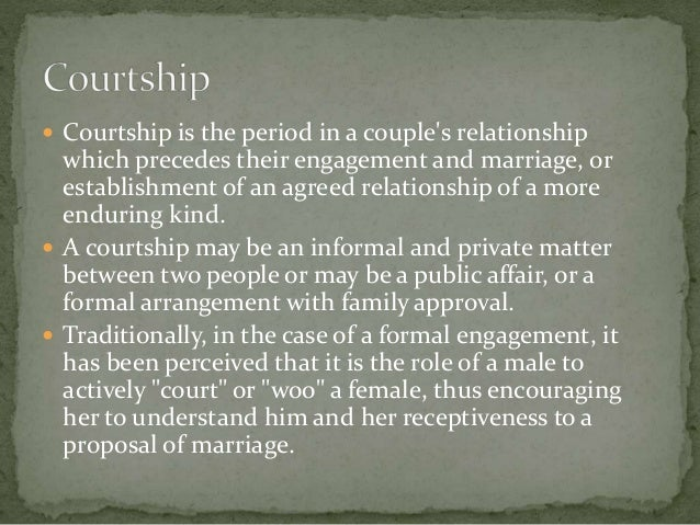 What is the definition of courtship