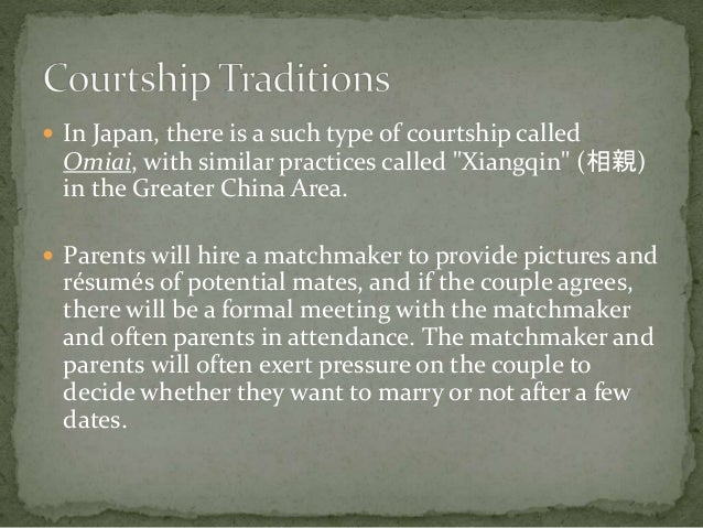 Courtship in japan