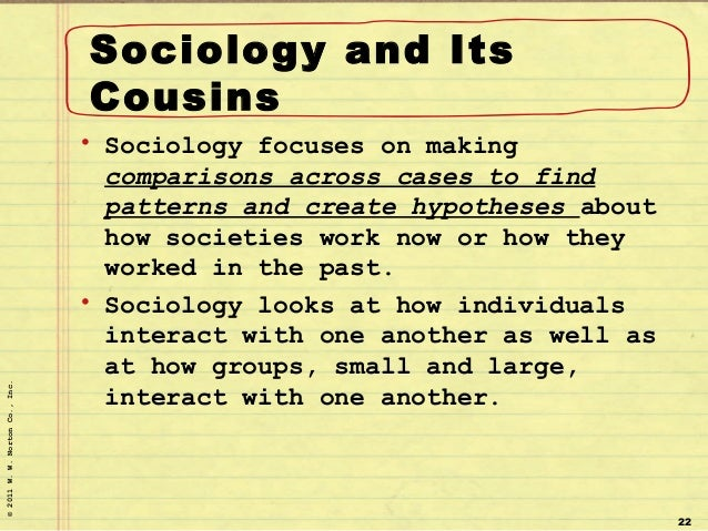 sociology chapter one Hunter porterfield sociology chapter 1 summary sociology is the study of the society and the way people interact within it the field of sociology and trying to study.