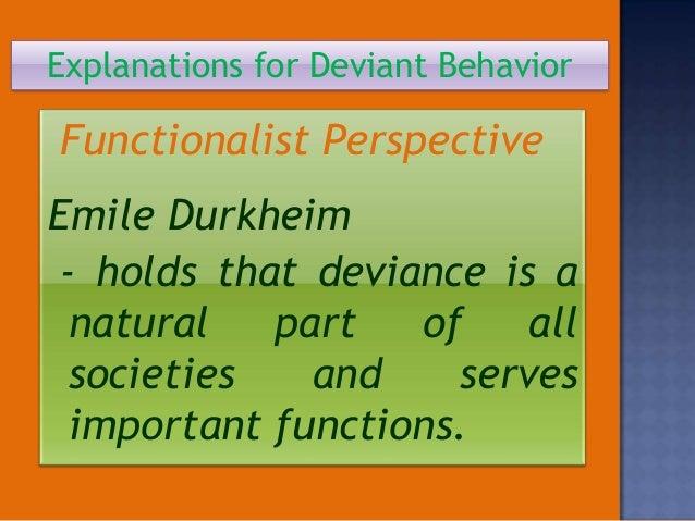 "emile durkheim deviance theory Crime & society - durkheim's theory of crime  assess the functionalist theory of crime and deviance 1813 words | 8 pages ""emile durkheim's theory of crime and ."