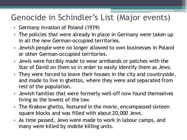 essay on schindler list Hi, this is for my history class - we just finished watching the film schindler's list and we were required to give a reflection paper my prompt is:tread the essay.