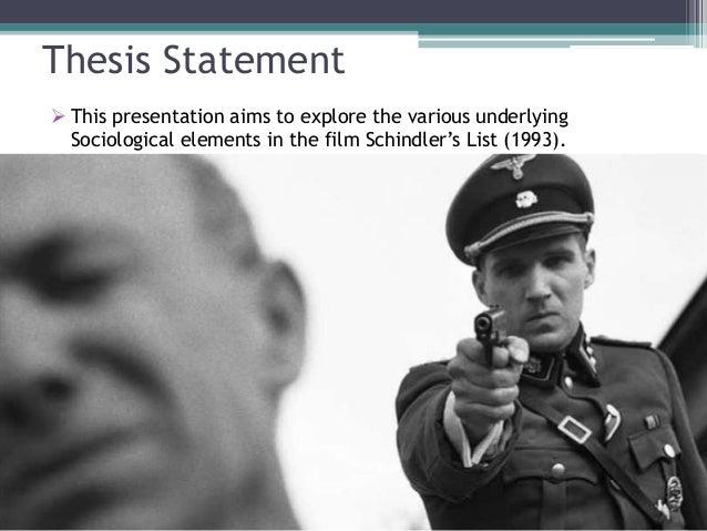 schindlers list thesis statement