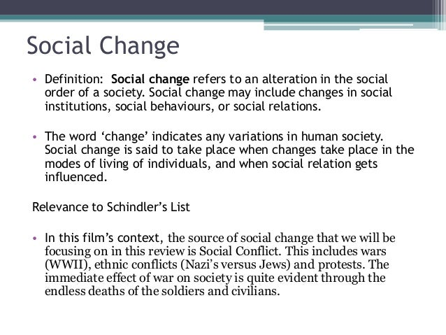 How does Schindler's list relate to sociology?