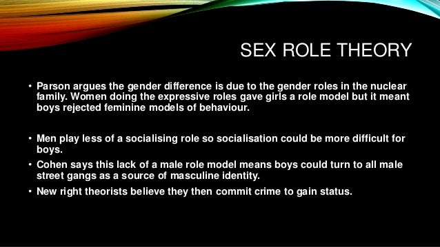 functionalist sex role theory crime in Chicago