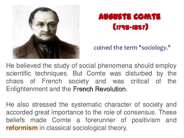 the contribution of auguste comte to sociology