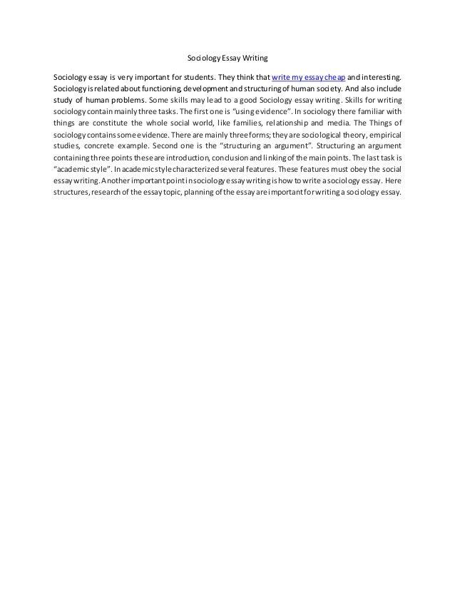 sociology essay pdf