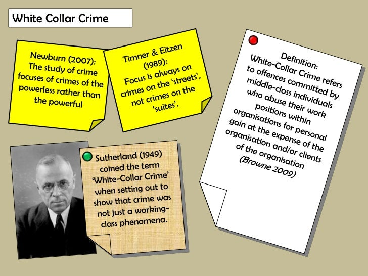Recent examples of white collar crime uk