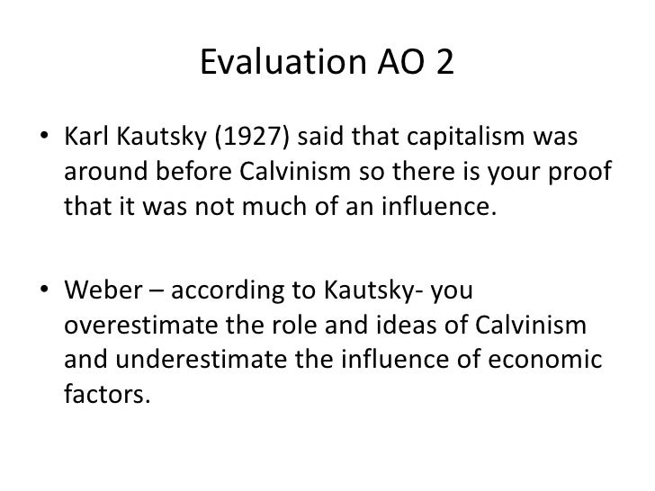 calvinism and capitalism relationship