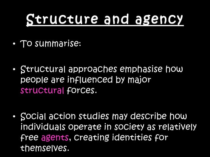 what is agency in sociology
