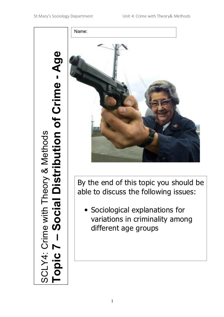 St Mary's Sociology Department                                                                       Unit 4: Crime with Th...