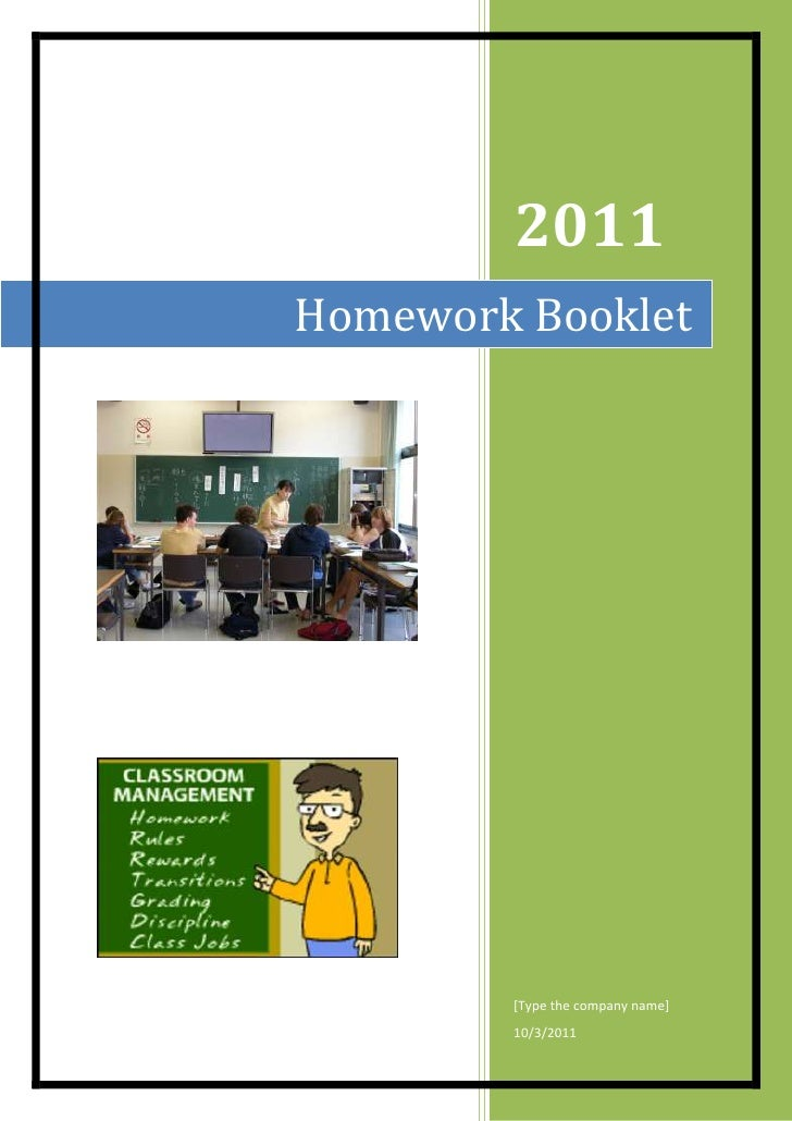 2011Homework Booklet        [Type the company name]        10/3/2011