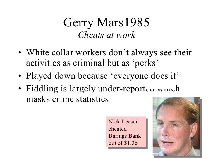 why companies does not prosecute white collar criminals Has it become impossible to prosecute white-collar or when the seller does not disclose if a lawyer cannot explain to the jury why this white-collar.