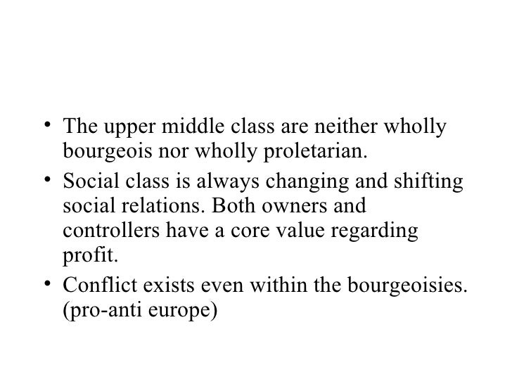 An evaluation of the bourgeois ideology