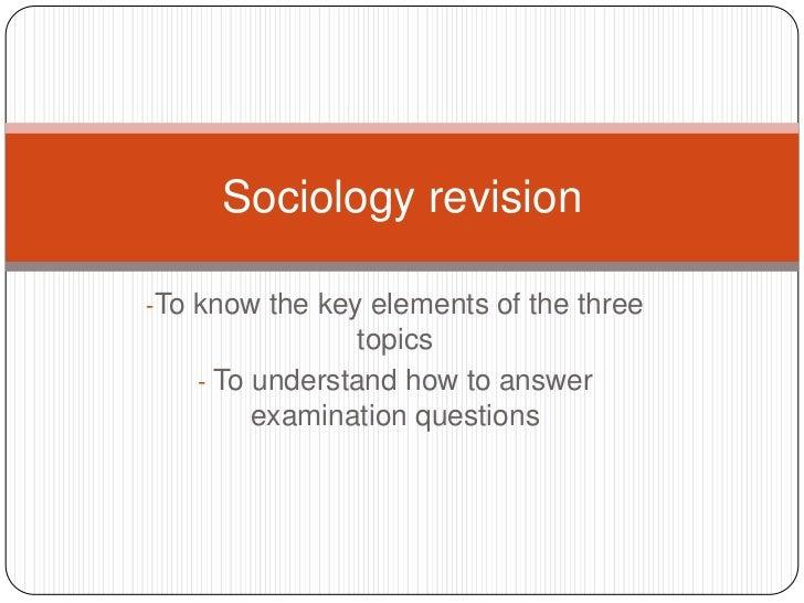 <ul><li>To know the key elements of the three topics