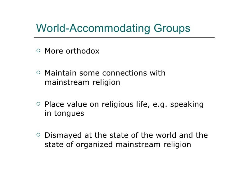 World accommodating definition