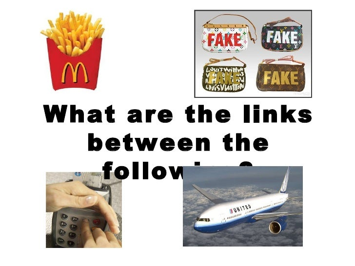 What are the links between the following?
