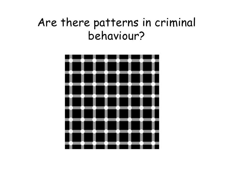 Are there patterns in criminal behaviour?