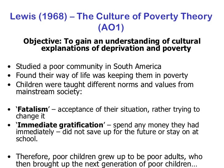 sociologyexchange co uk shared resource lewis 1968 the culture of poverty