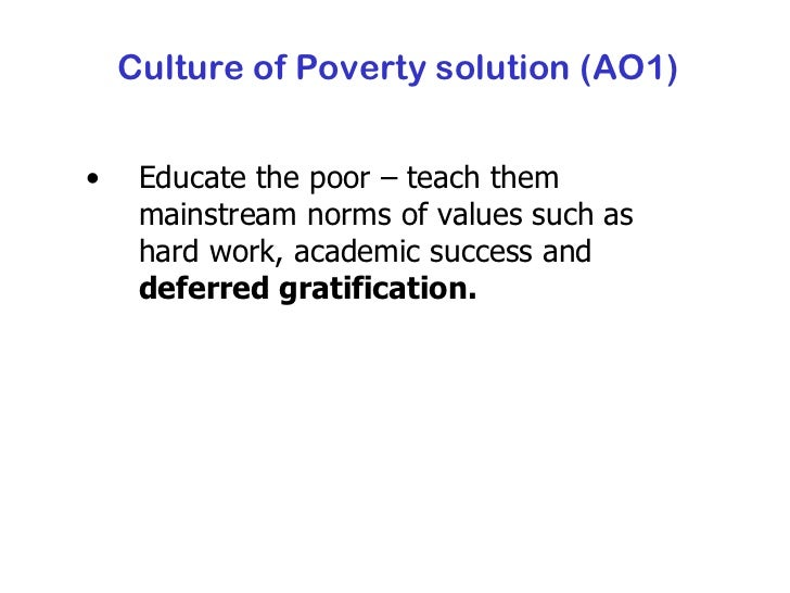 sociologyexchange co uk shared resource culture of poverty