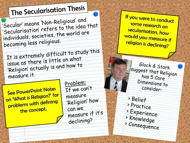 secularisation thesis weber Secularization refers to the historical process in which religion loses social and cultural significance as a  weber's classic but controversial argu.