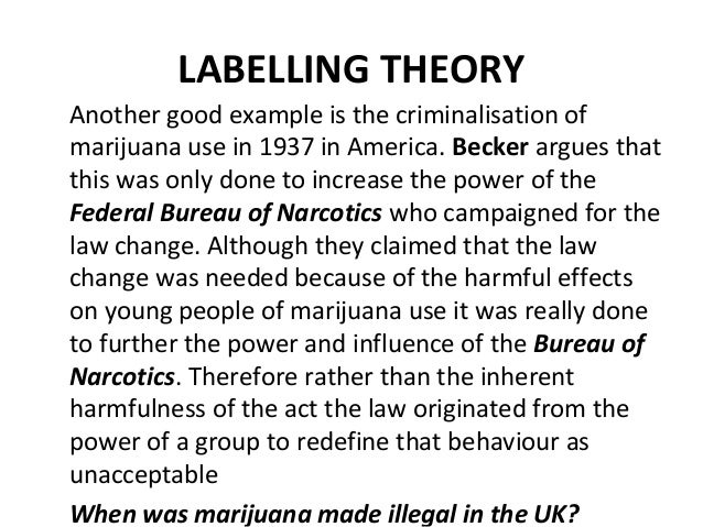 sociology labelling In sociology, deviance describes an action or is an important shift that has transformed the way society views deviance the labelling theory helps to.
