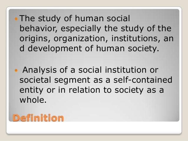 Sociology meaning and perspectives Slide 2