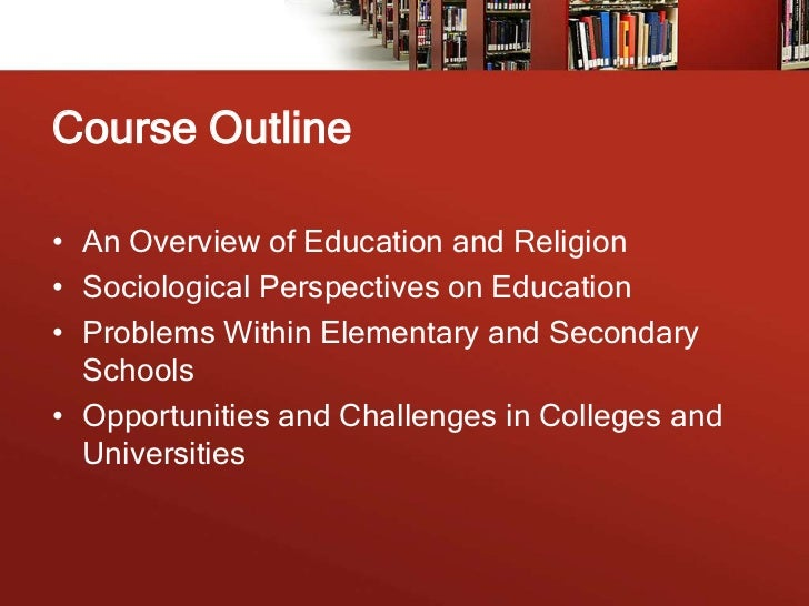 sociology of education You may also be looking for sociology of education (journal) the sociology of education is the study of how public institutions and individual experiences affect education and its outcomes.