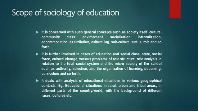 relevance of sociology of education