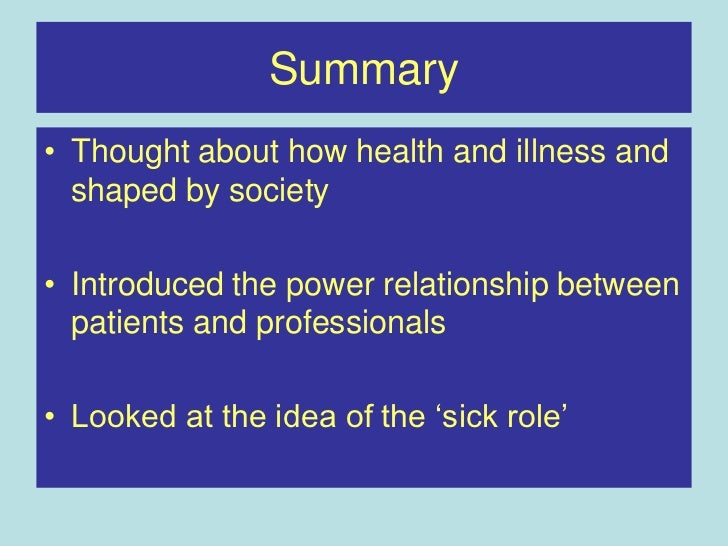 sociology in health and illness an essay The uk's original provider of custom essays wwwukessays com if you are using this resource in your work please remember to reference and cite the original work found here:.