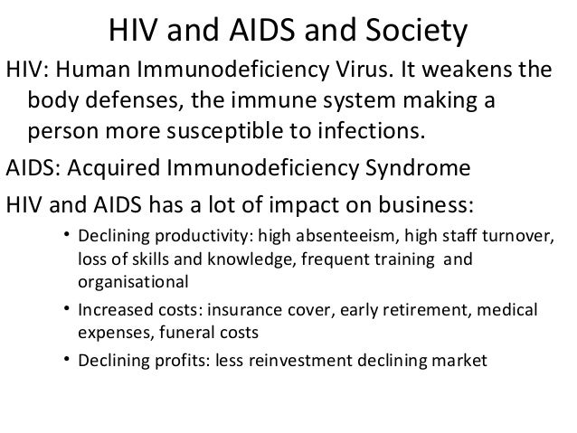 impact of hiv on society