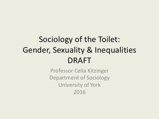 Sociology of toilets- Gender, Sexuality, Inequality: Celia Kitzinger