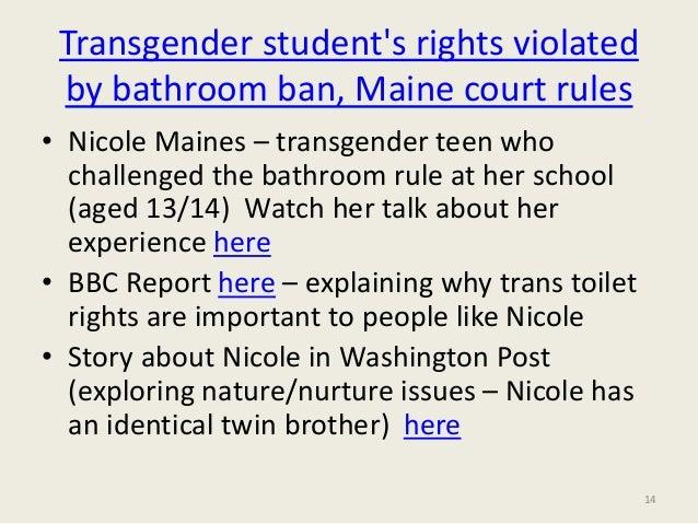 School Bathroom Rules sociology of toilets- gender, sexuality, inequality: celia kitzinger