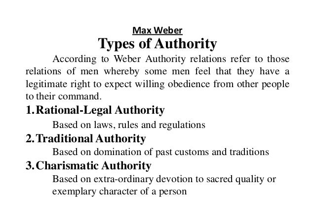 Traditional authority max weber