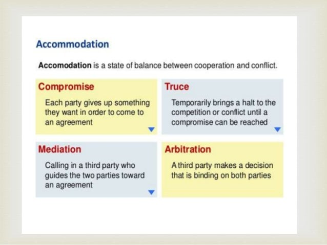forms include compromise truce or mediation