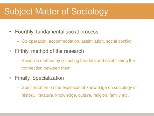 subject matter of sociology essays for free