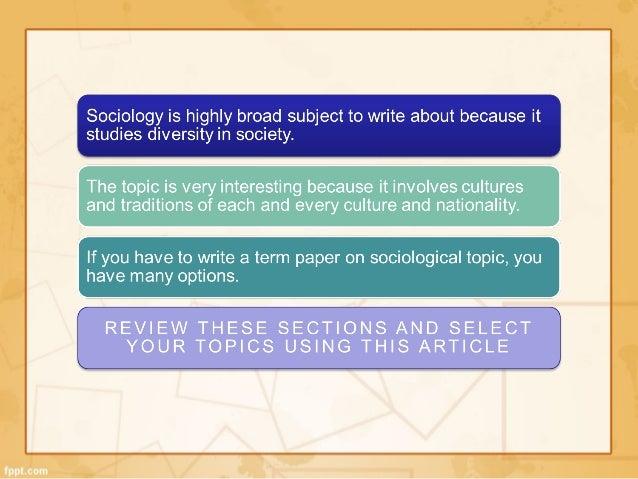 sociology topics for essays