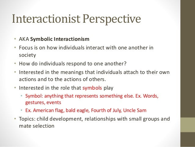 does the symbolic interactionism explain anything sociology essay On humanism and symbolic interactionism i have since the late 1960's been interested in the theory of symbolic interactionism it is a very partial and limited theory but for many purposes it is actually one of the best we have.