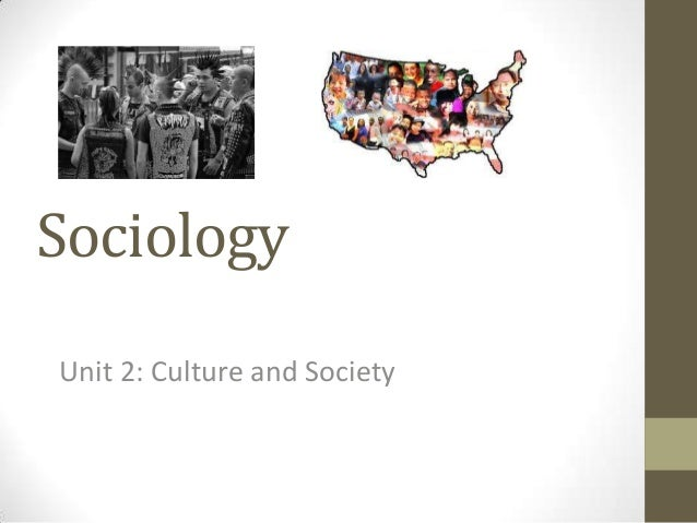 Sociology Unit 2: Culture and Society