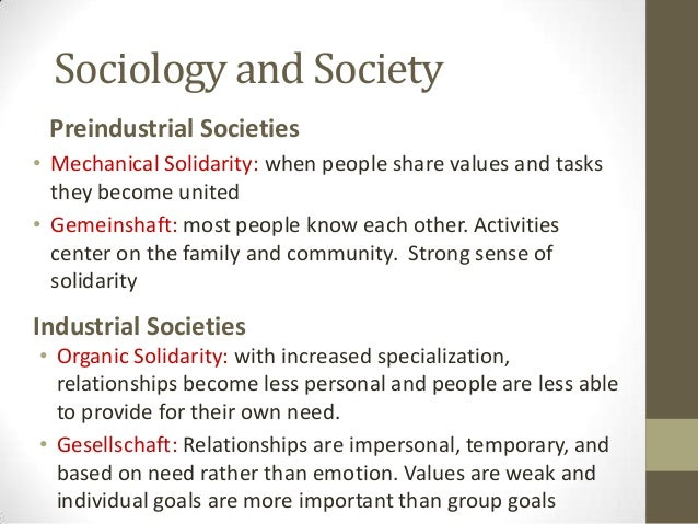 mechanical and organic solidarity which one is Essay from the year 2011 in the subject sociology - classics and theoretical directions, grade: distinction, london school of economics, language: english, comment: for durkheim, the decline of mechanical solidarity in modern societies is deeply worrying.