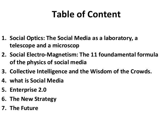 SocioPhysics: The physics of social media 2010 Slide 2