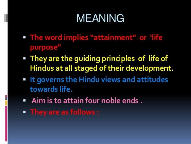 The principles and concepts of hinduism
