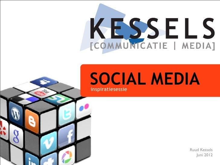 SOCIAL MEDIAinspiratiesessie                   Ruud Kessels                      Juni 2012