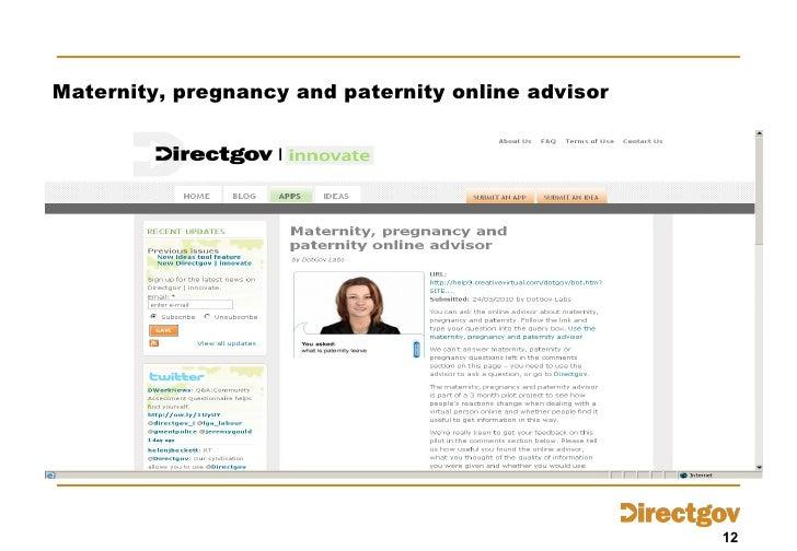 Maternity, pregnancy and paternity online advisor