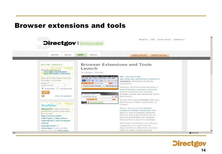 Browser extensions and tools