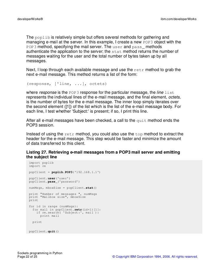 Learn socket programming in python