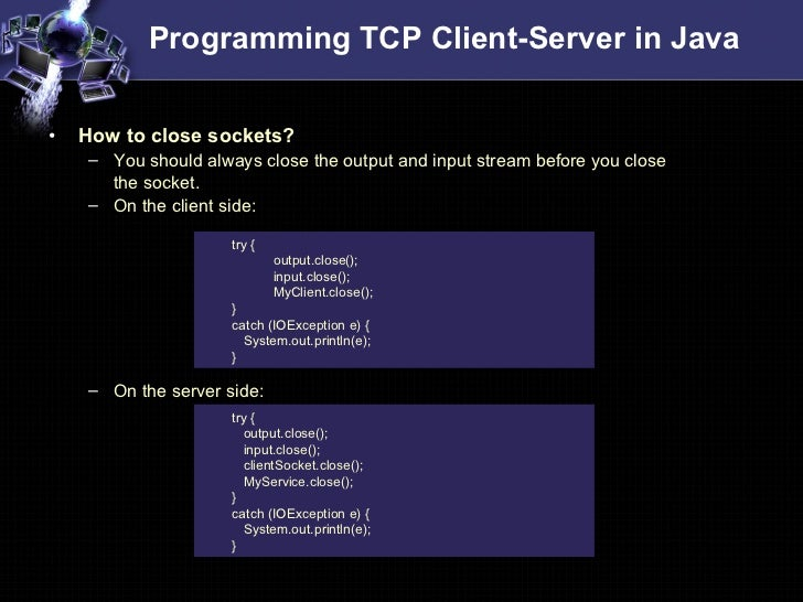 Socket Programming In Java Tutorial Pdf