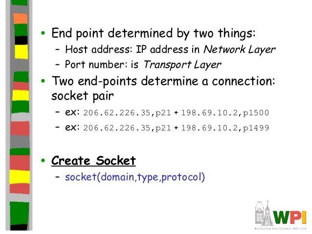 socket descriptor