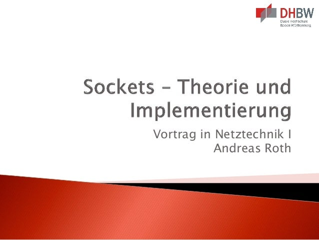 Vortrag in Netztechnik I Andreas Roth